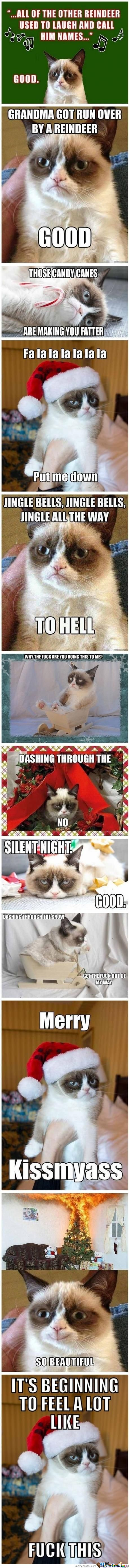Merry Kiss My Ass Grumpy Cat Style