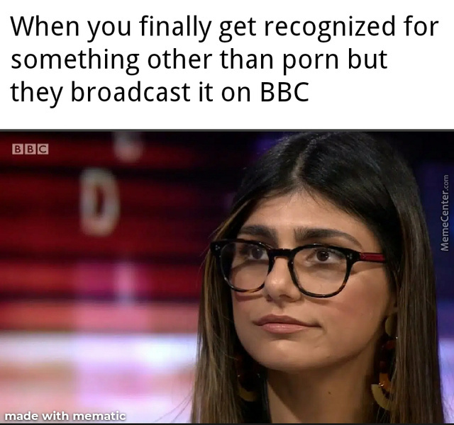 Mia Khalifa Is My Spirit Animal And U See The D There?