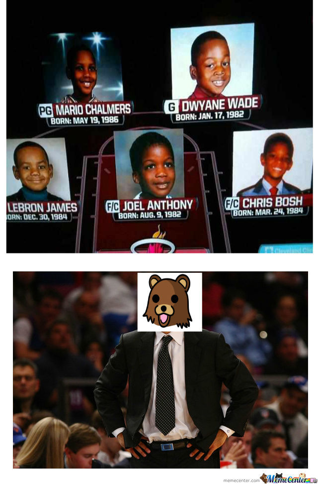 Miami Heat First Five ...   (...years Of Their Age)