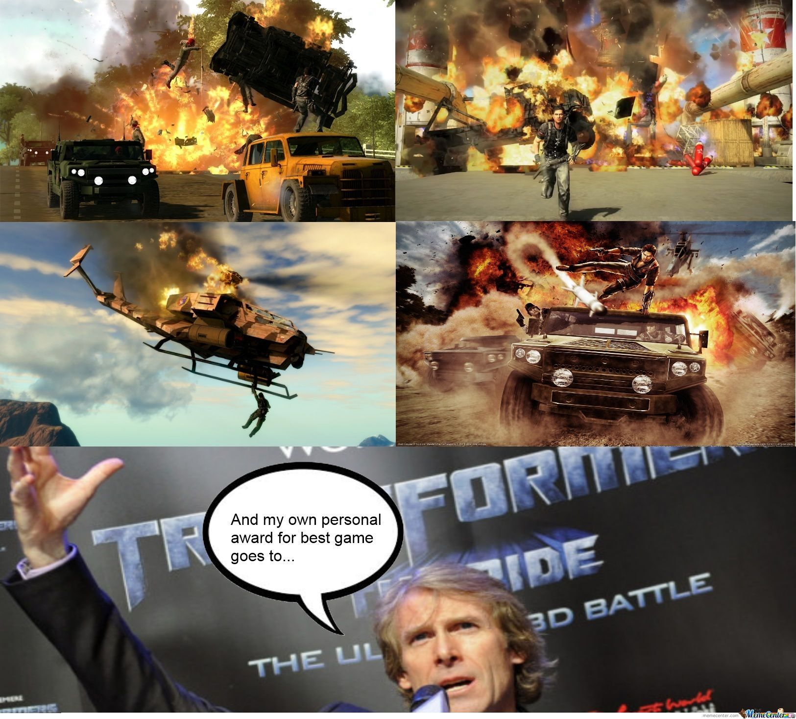 michael bay just cause he can_o_1229256 michael bay just cause he can! by arcticroflwolf meme center