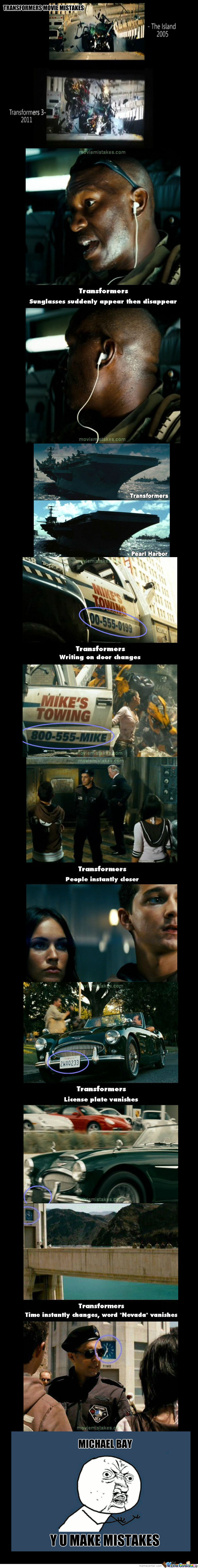 Michael Bay Mistakes (Transformers)