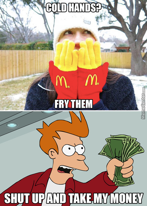 Mickey D's Finger Fries Gloves