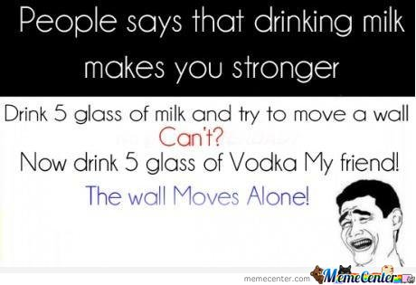 Milk Vs Vodka