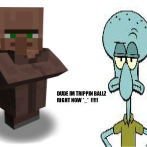 Minecraft Squidward Villager By Paulpaulington Meme Center