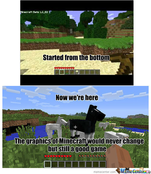 Minecraft Will Never Change Those Graphics But The Items