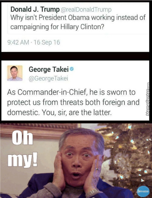 Mister George Takei In Action