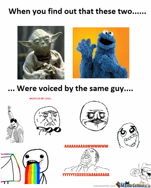 Yoda And Cookie Monster