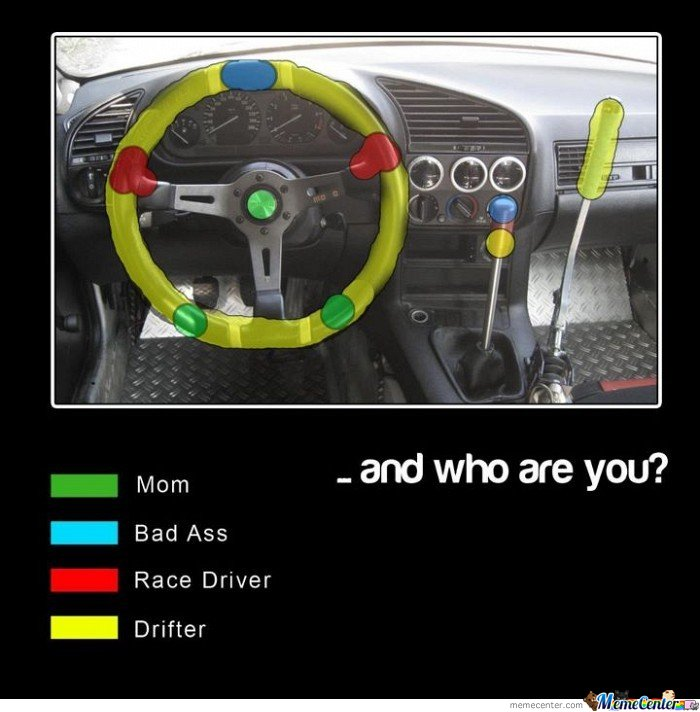 Mom & Bad Ass & Race Driver & Drifter .. And Who Are You?
