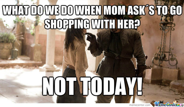 Mom I Don't Want To Go Shopping