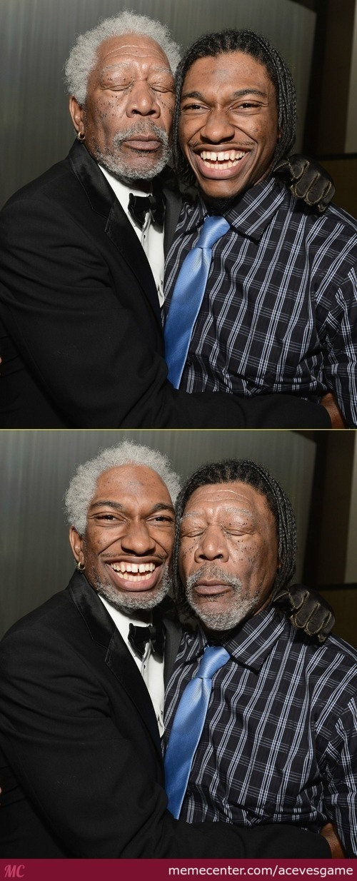 Morgan Freeman, And Robert Griffin The Third Face Swap