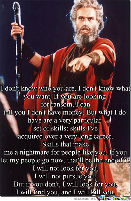 Moses Had It Right