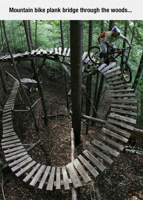 Mountain Bike Plank Bridge