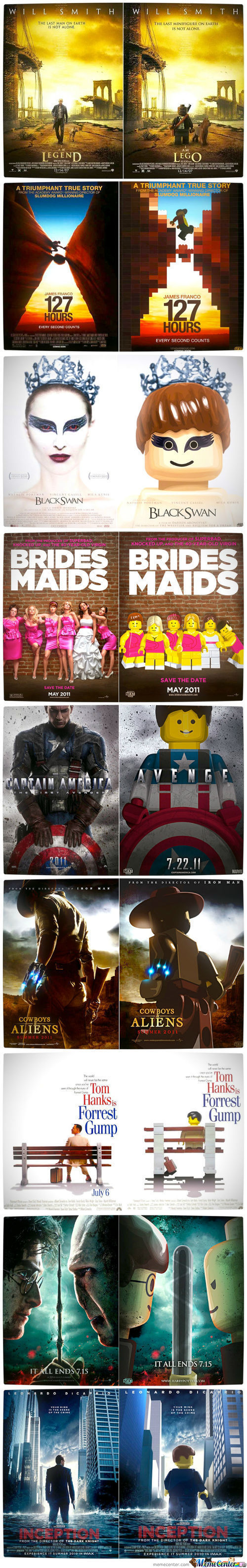 Movie Posters Recreated Using Lego Characters Part 1