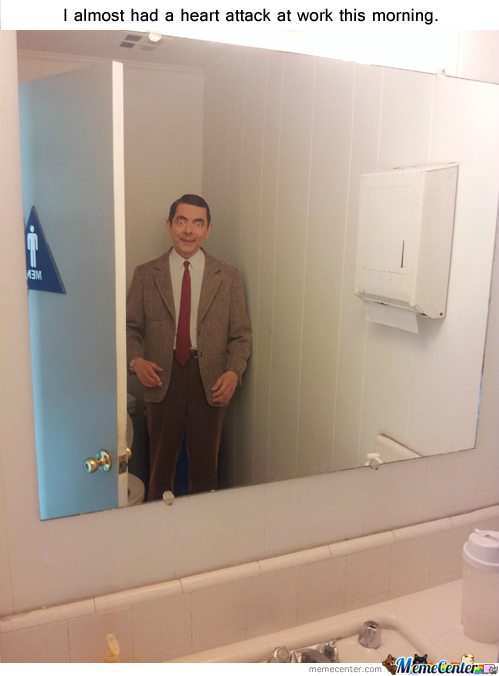 Mr. Bean In The Latrine