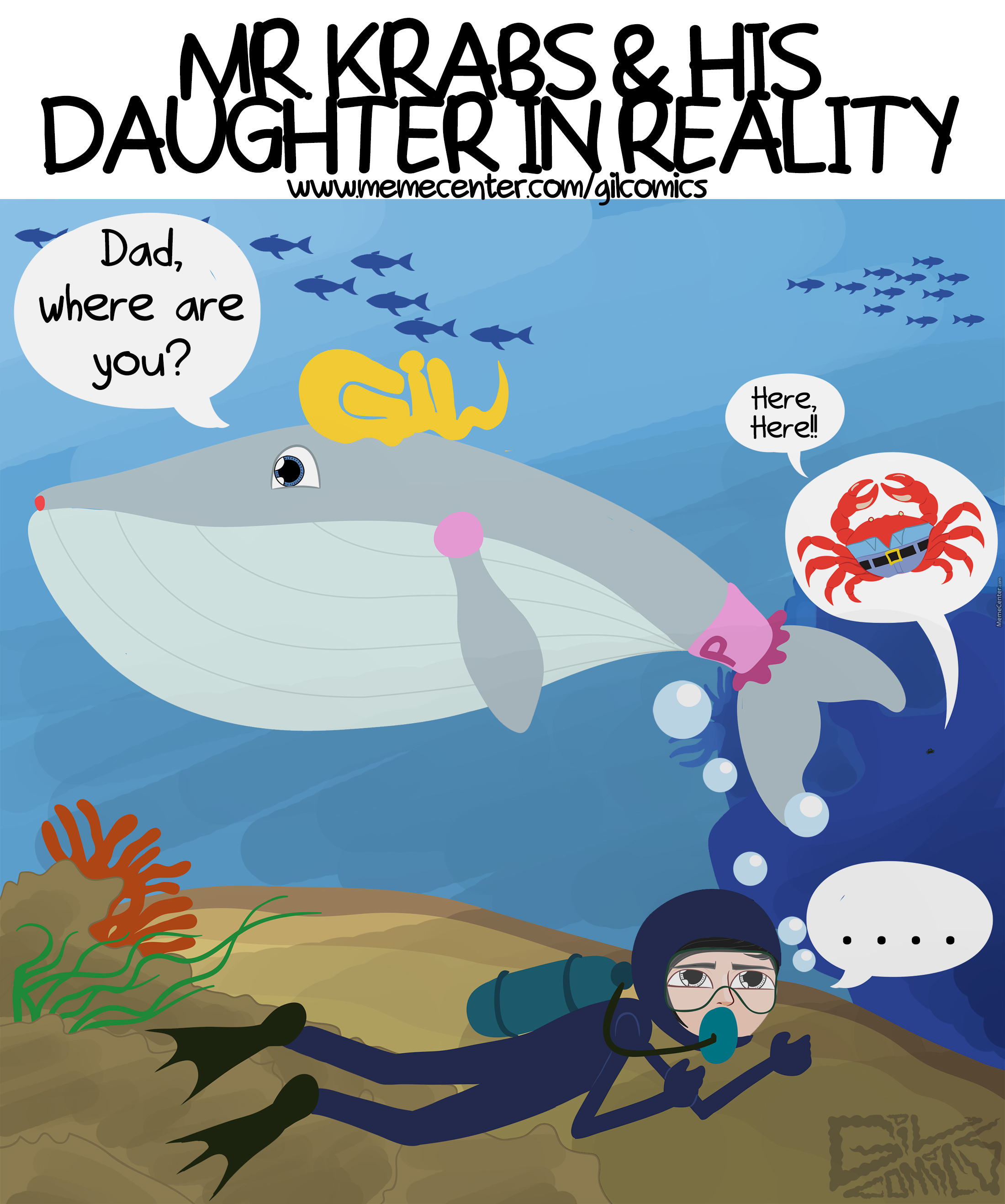 mr krabs u0026 his daughter in reality by recyclebin meme center