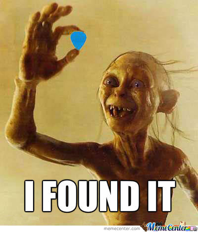 Mrw I Find My Guitar Pick