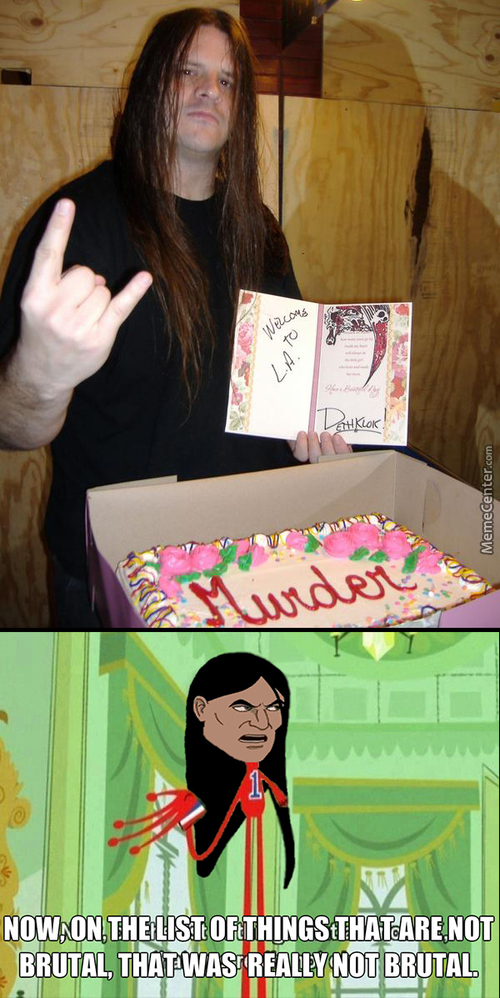 Murder Cake For Corpsegrinder ( Cannibal Corpse )