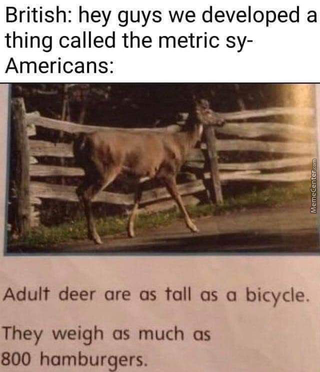 Muricans Will Measure With Anything, Except Valid Systems