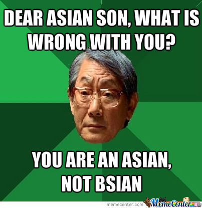 My Asian Teacher Said This To His Son In My Class