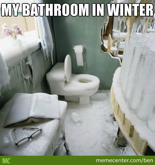 My Bathroom In Winter