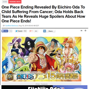 My Biggest Fear Is To Die Without To See The End Of One Piece by