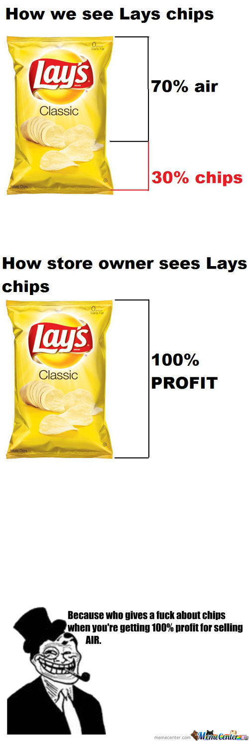 My Dad's Reaction To When I Told Him Lays Were 70% Air.
