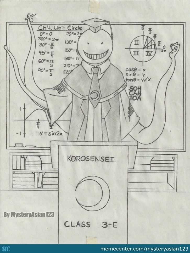My Drawing Of Korosensei From Assassination Classroom By
