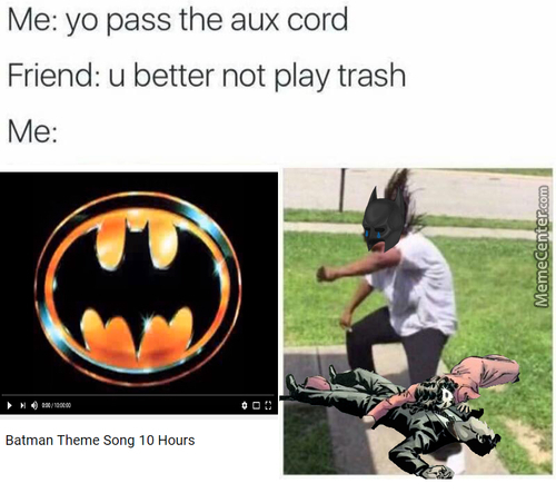 My First Pass The Aux Cord Meme :p