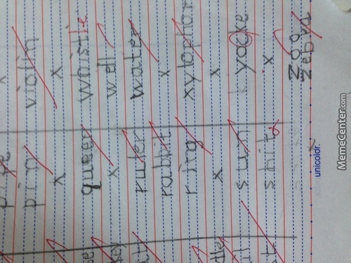 My Lil Bro Did This In His Dictation Book