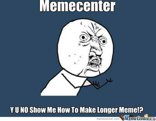 My Question To Memecenter