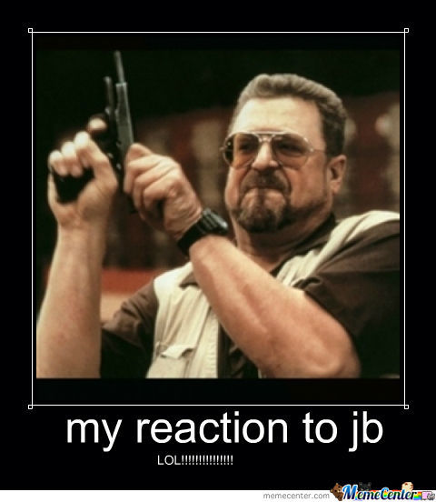 My Reaction To Justin Bieber