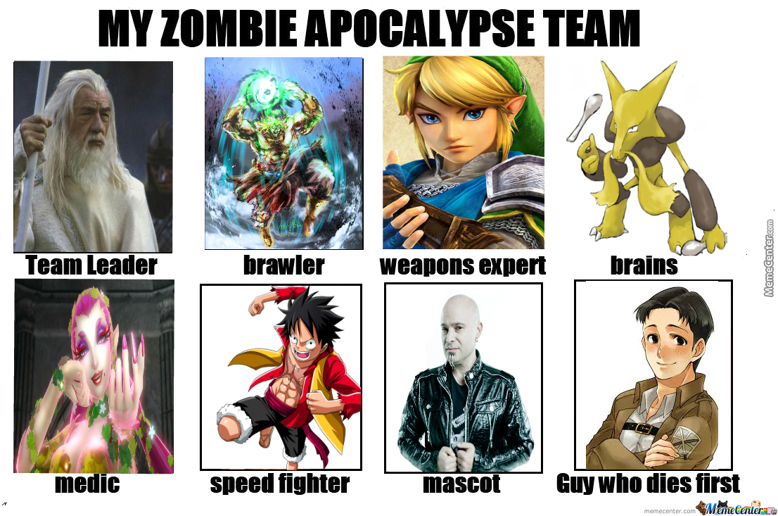 my zombie apocalypse team template in comments by invisibleink
