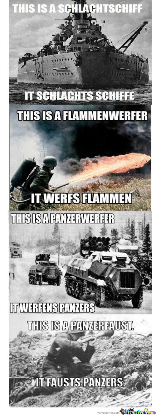 Names Of German Weapons And Their Meaning