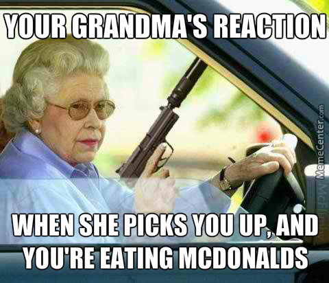 Nanny Hates Mcdonalds, She Doesn't Let You Eat Any Other Food Than Her Own.