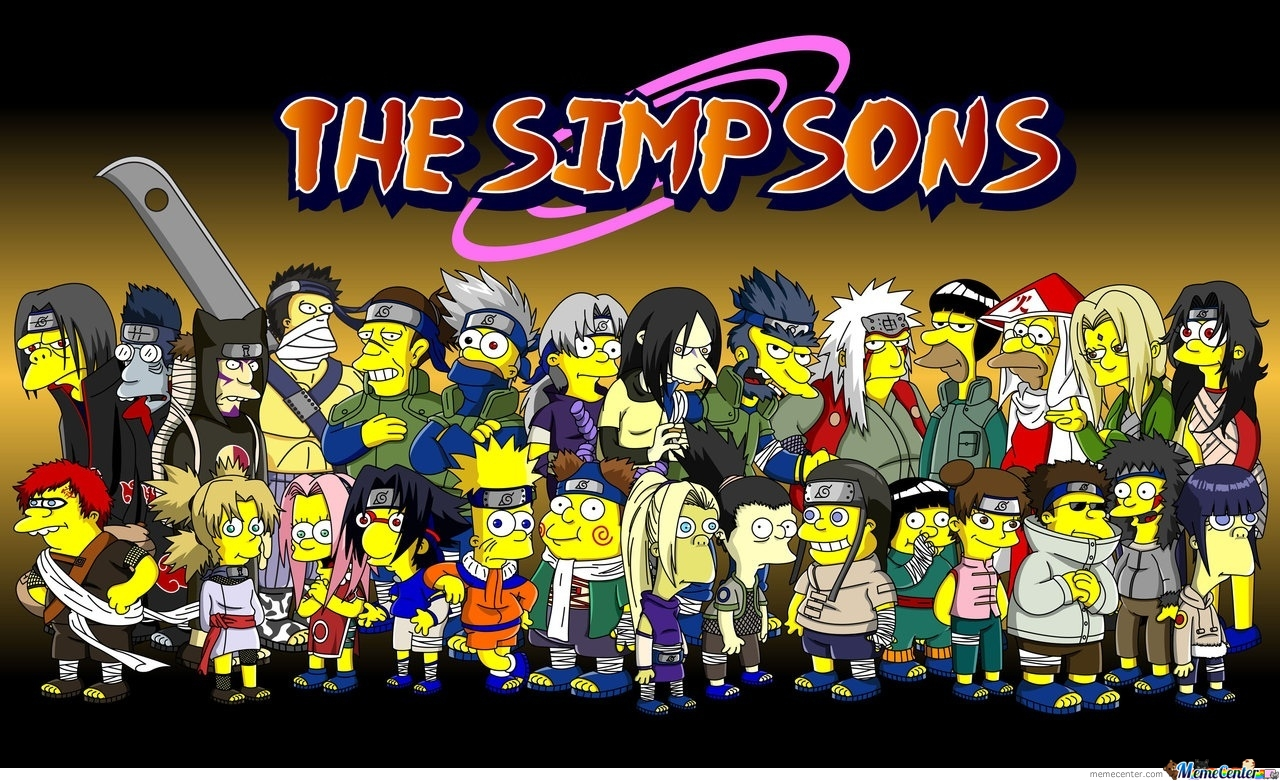 Naruto As The Simpsons