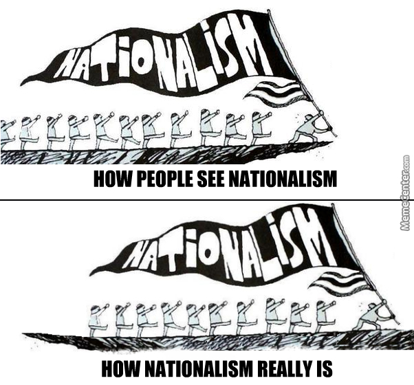Nationalism Is Not Racism By Jim Ivanovich Meme Center