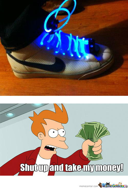 Need Laces That Run On Batteries...