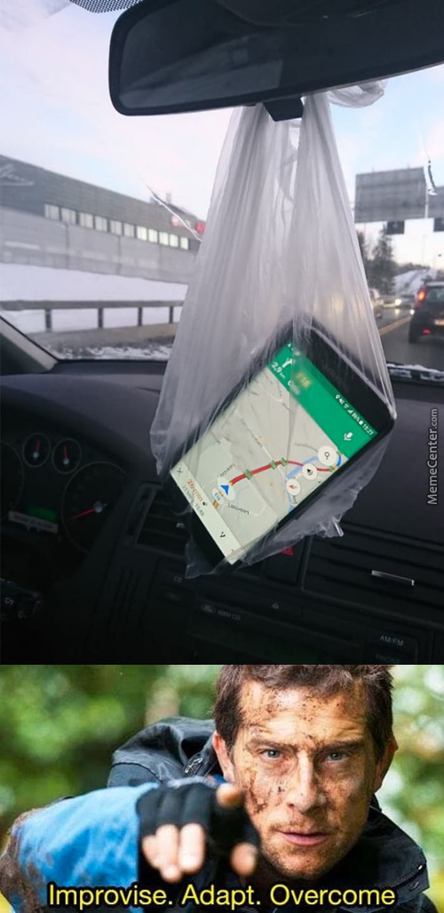 Need To Use The Navigation. No Phone Holder