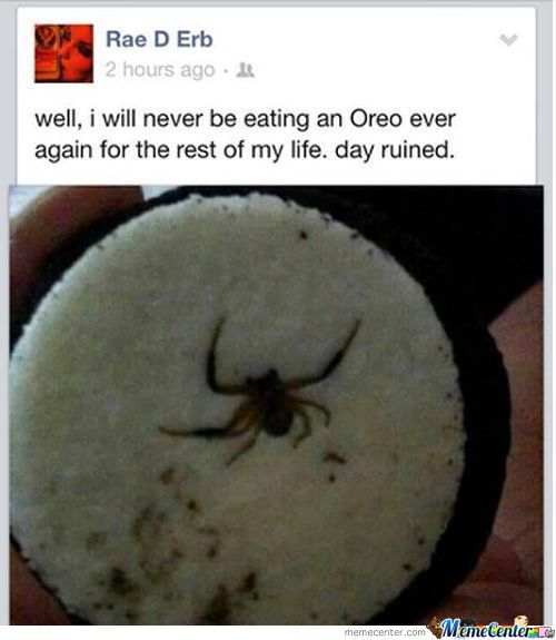 Never Eating Oreos Ever...