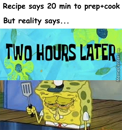 Never Try To Cook!