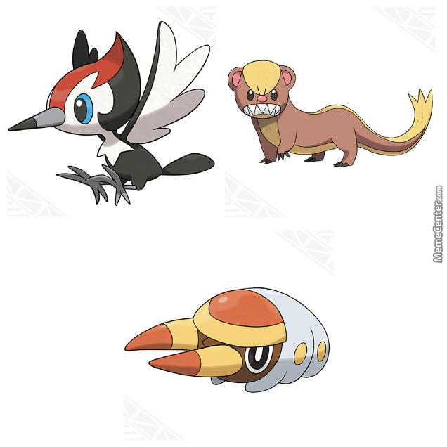 New 7th Gen Pokemon Pikipek Yungoos And Grubbin By Jwedig92