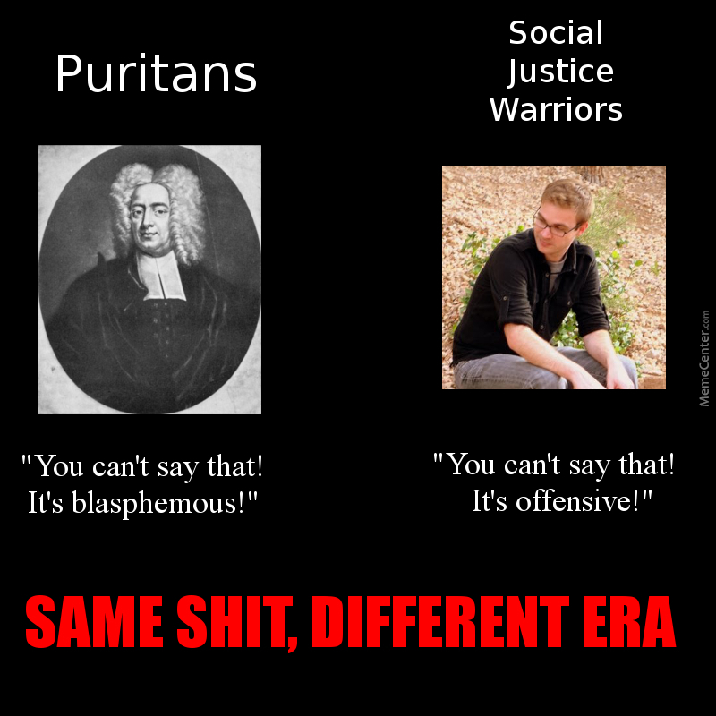 puritans vs anti puritans How did the puritans become unitarians by joe  but, if i didn't, your contention, i suppose, would be the anti-free will interpretation, but can you reasonably expect those who believe in free will to phrase everything as if it didn't exist reply iwka says: june 11, 2011 at 12:55 am.