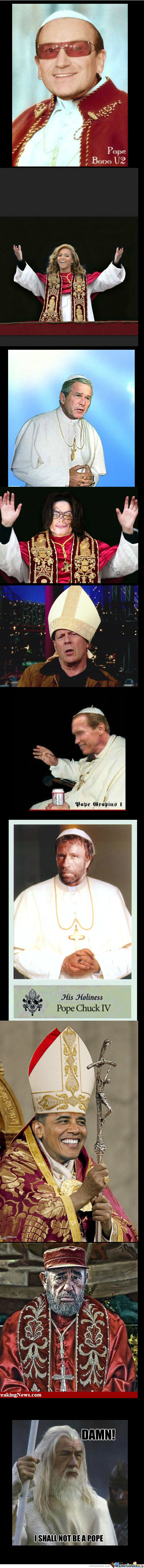 Newest Pope Candidates (Chuck Norris Would Be My Choice)