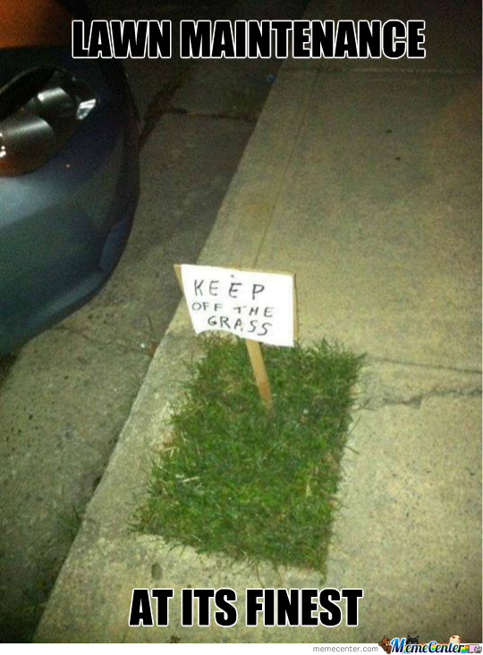 nice lawn_o_2129621 nice lawn by spenny meme center,Lawn Memes