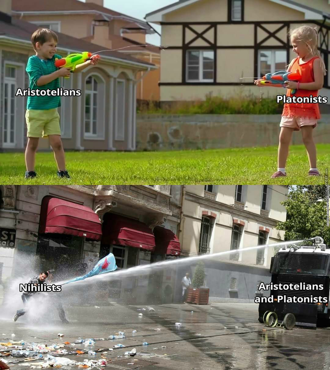 Nihilists Getting Btfo By Platonists And Aristotelians
