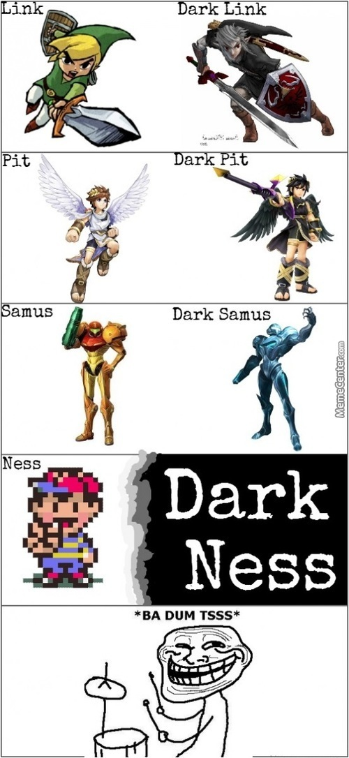 Nintendo Characters And It's Opposite