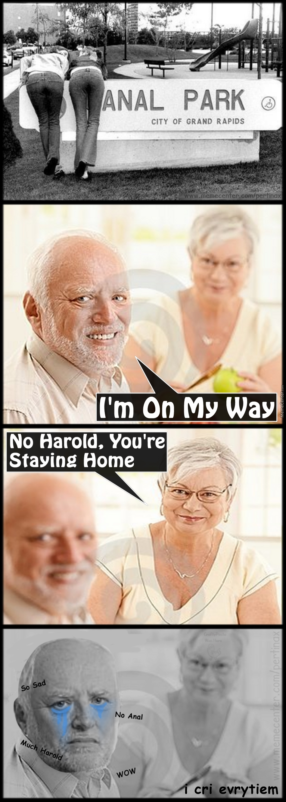 No A̶n̶a̶l̶ For Harold Today :(