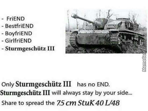 No End, The Sturmgeschütz Is Always By Your Side.