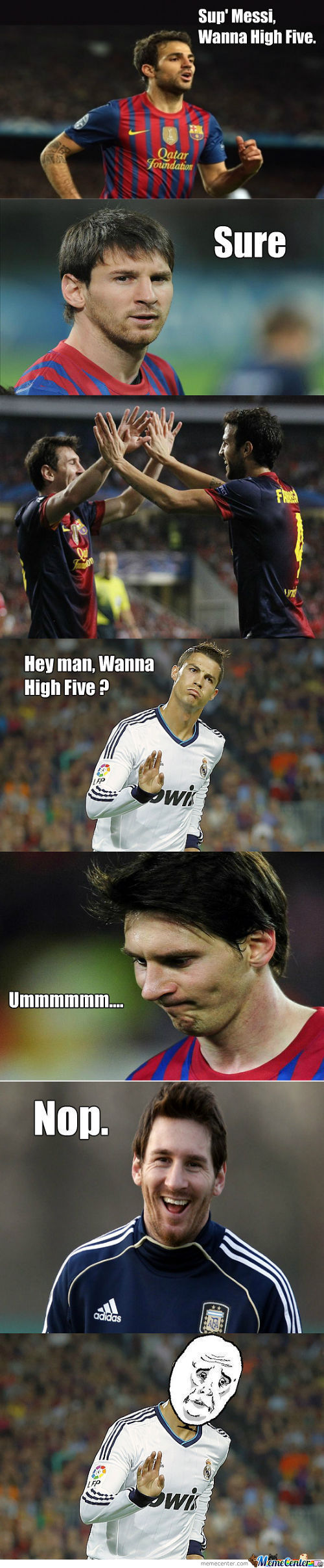 No High Five For You.
