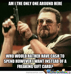 No More Gift Cards!
